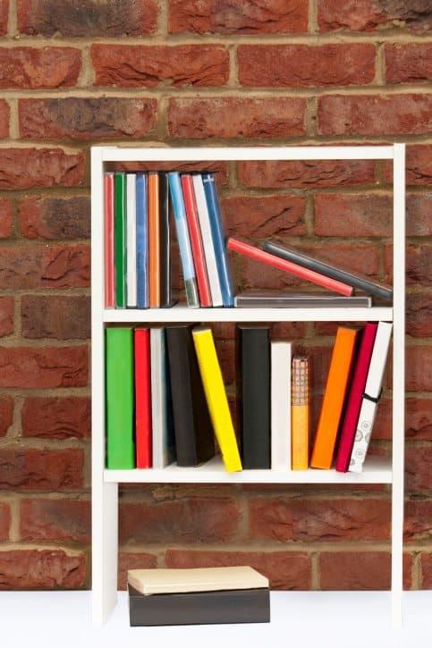 bookcase, organized, books