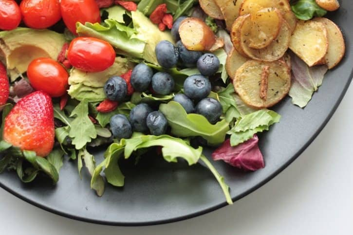 vegetables, berries, salad