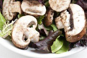 Tasty, Hot Mushroom Salad