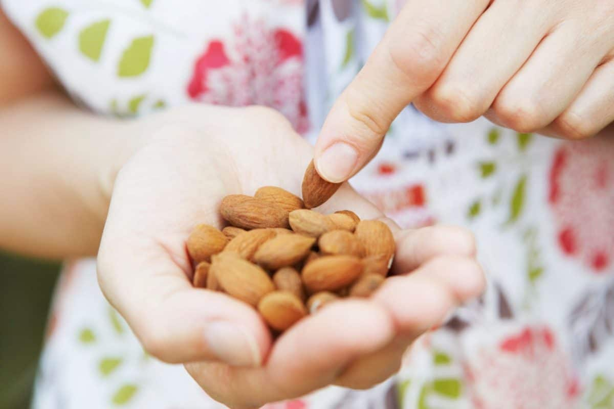 benefits of almonds, serving of almonds