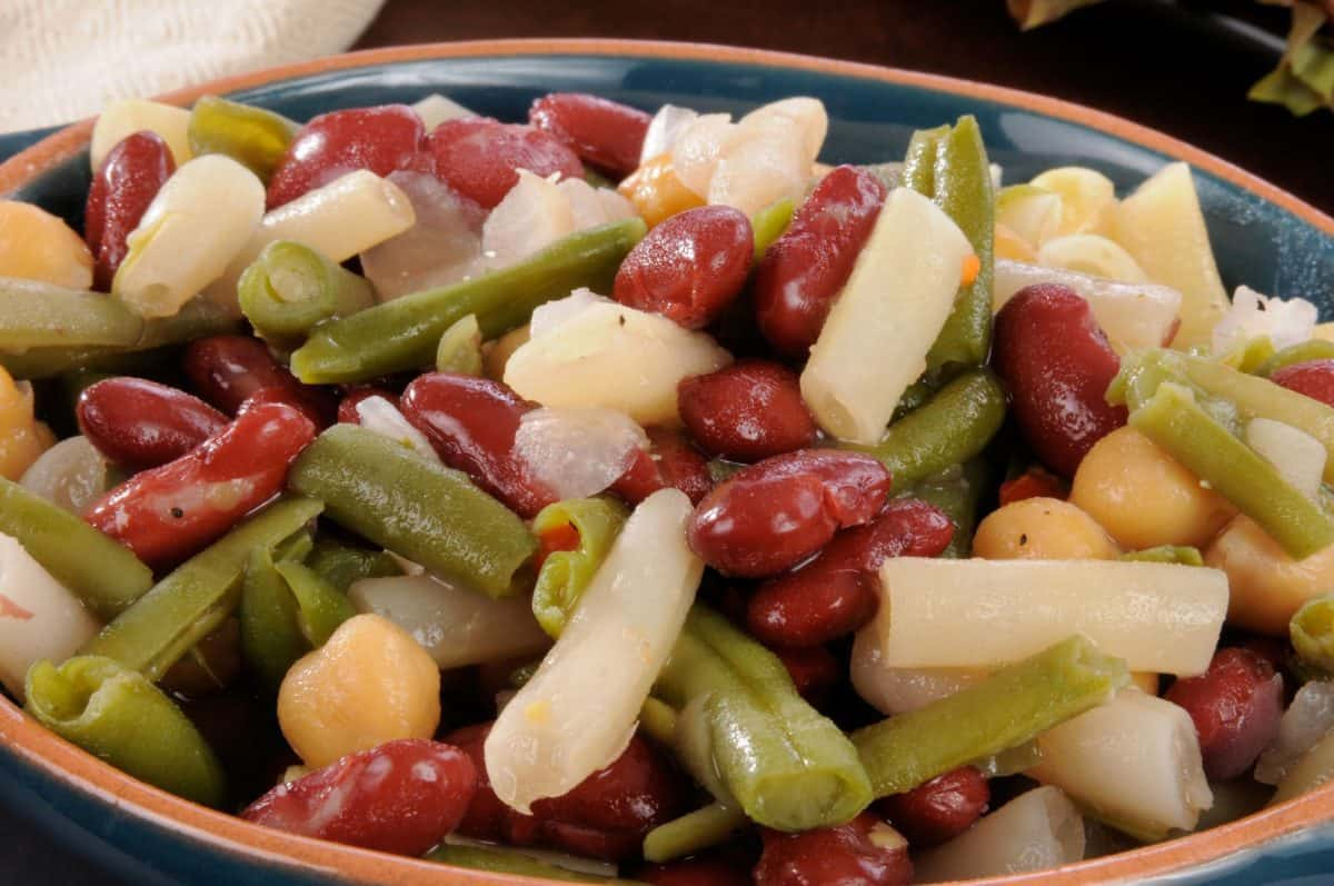 bean salad, salad, springtime meals