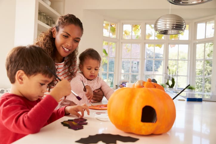 spooky candles, halloween arts and crafts, halloween crafts
