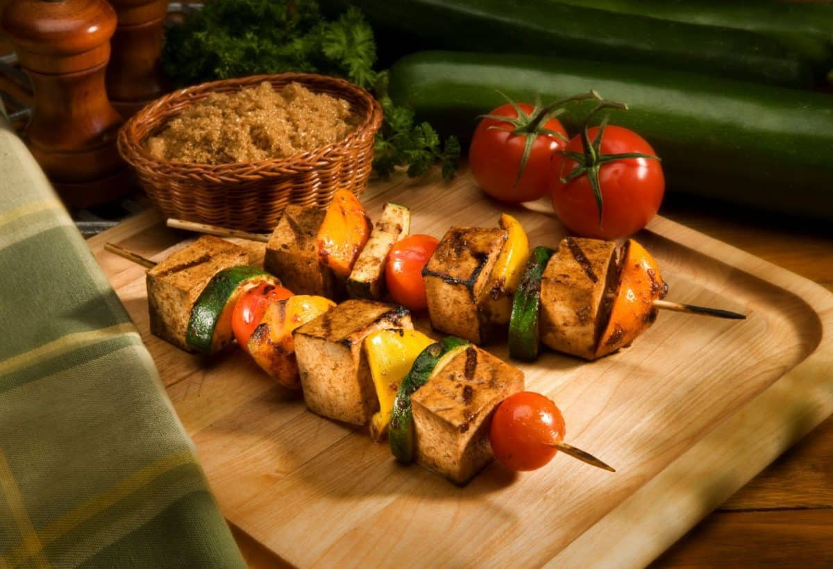 soy, shish kabobs, tofu, grilled vegetables, soy food month