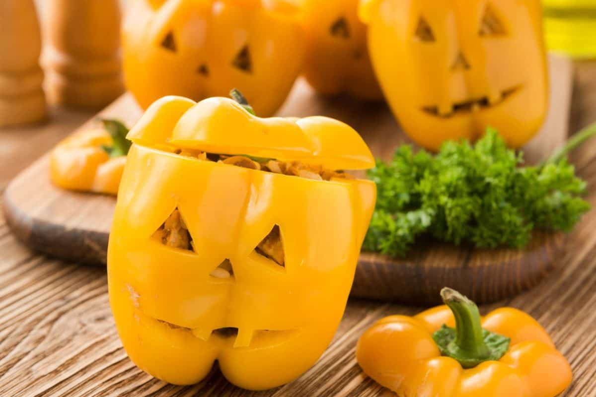 halloween, stuffed peppers, peppers