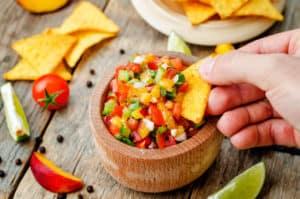 peach salsa recipe, peach and avocado salsa, peach salsa, peach nutrition facts
