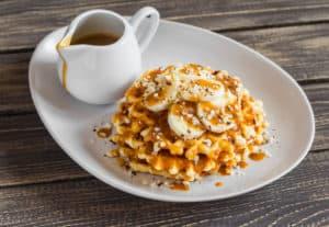 banana nut waffles, waffle recipe, banana benefits, waffles