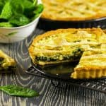 Thanksgiving Breakfast-Cheesy Spinach Quiche